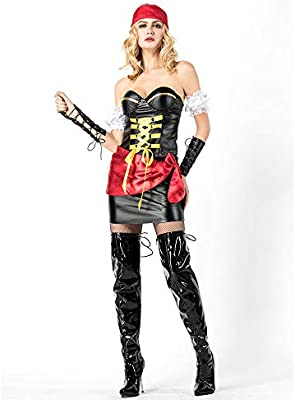 Dress Party Ropa De Mujer,Disfraz De Pirata Sexy Tube Top Charol ...