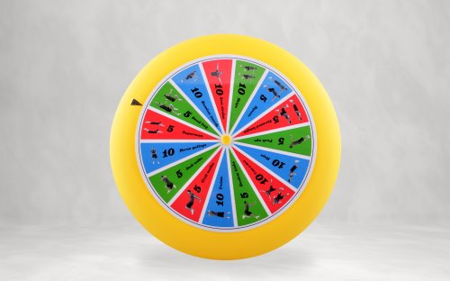 Spin-Fit Sports Disc with Exercises. Plastic flying disc (80g - 9 inch diameter), with instructions. Made in - For Fit Sports