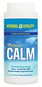 Natural Vitality Natural Calm Magnesium Anti Stress, Original, 16 oz