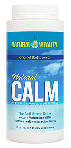 Natural Vitality Natural Calm Magnesium Anti Stress  Orignal  16 Oz