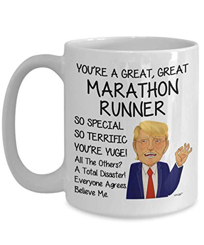 Marathon Runner Coffee Mug Funny Gifts For Birthday Christmas Gag Tea Cup By Whizk MTR631