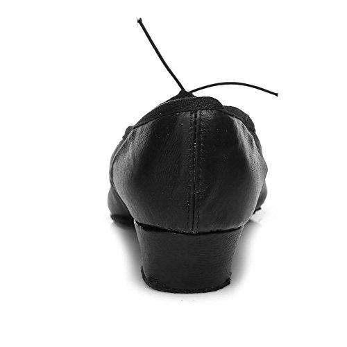 Scarpe Da Ballo Latino Da Donna Modello Roymall Modello 101 Black-2