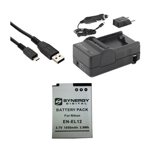 Nikon Coolpix S9700 Digital Camera Accessory Kit includes: SDENEL12 Battery, SDM-197 Charger, USBM USB Cable