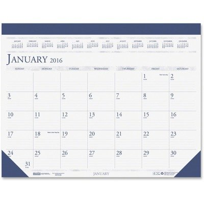 House of Doolittle Compact Desk Pad Calendar 12 Months January 2012 to December 2012, 18.5 x 13 Inch, Leatherette Strip at The Top, Recycled (HOD1506)