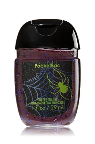 Bath Body Works PocketBac Hand Sanitizer Gel Twisted Web Creepy Orange