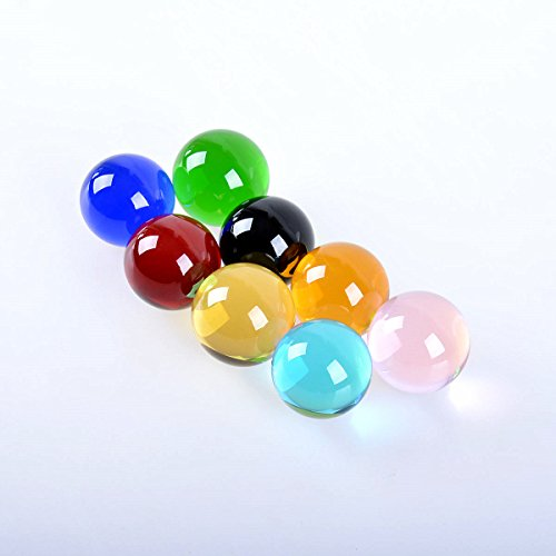 LONGWIN 40mm Crystal ball Solid Sphere Healing Stone Pack Of 8