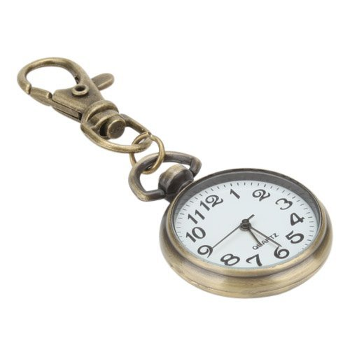 Nice Alloy Big Round Key Ring Watch Man Watch Pocket Quartz Watch Keychain Pendant Chain Sport Ring Women (Keychain Pocket Watch)