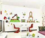 WallStickerUSA Angry Bird Game Wall Sticker Decal for Baby Nursery Kids Room