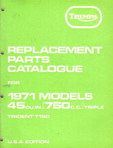 TRP1971-750 Used Triumph Replacement Parts for 1971 750cc Models