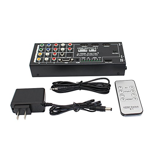 J-Tech Digital Latest Generation Multi-Functional HDMI Audio Extractor with 8 Inputs to 1 HDMI Output with Optical / Coaxial 5.1 Channel Support 3D & Surround Sound by J-Tech Digital (Image #4)