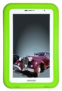 """Bobj Rugged Case for Samsung 7-inch Galaxy Tab 2 and Galaxy """"Tab Plus"""" Wi-Fi and 3G/4G Models (Not for Tab3) - BobjGear Custom Fit - Sound Amplification - BobjBounces Kid Friendly - Gotcha Green"""