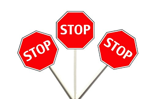 Crafty Cue Stop Sign Cupcake Toppers, Construction Cupcake Toppers, Construction Cupcake Picks, School Cupcake Toppers