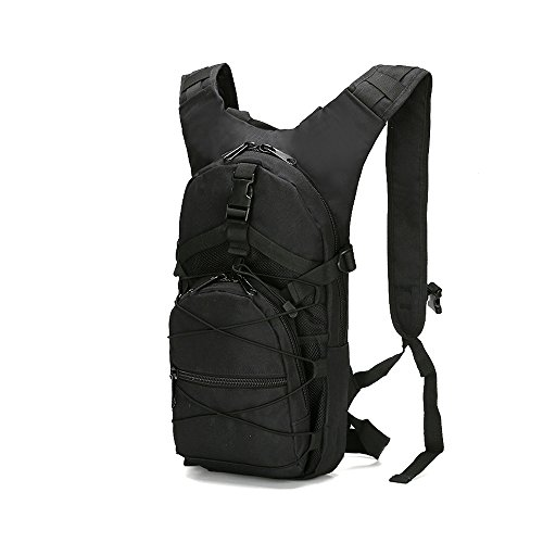 WYuZe Military Tactical Backpack, 15L Hiking Backpack Waterproof Nylon Molle Backpack Lightweight Rucksack Small Daypack for Outdoor Traveling Camping Hunting Cycling (black)