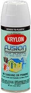 Krylon K02320000 Fusion For Plastic Aerosol Spray Paint, 12-Ounce, Gloss White