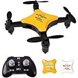 Mini Drone for Kids, Maxxrace Foldable RC Quadcopter Drone 2.4Ghz 6 Axis with 360 Degree Flip Headless Mode  Altitude Hold for Beginners and Kids Adults (Bonus A White Shell)