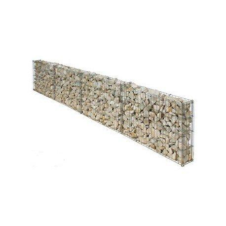Bellissa Mauergitter f. gerade u. geschwungene Mauern L232xH40xT10 cm