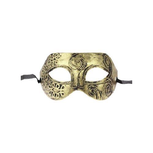 Roman Greek Costume Cuts (Gleader Gold Tone Roman Greek Mens Venetian Halloween Costume Party Masquerade Mask)