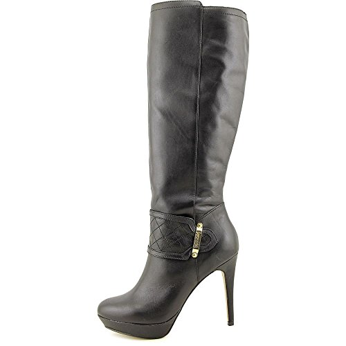 Toe Black Boots kensie Closed High Womens Nenessa Knee Fashion qwzFA