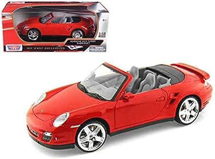 2008 Porsche 911 Turbo Cabriolet Azul 1:18 Motor Max 73183