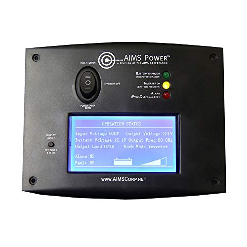 AIMS Power REMOTELF Remote Switch with LCD Monitoring Screen
