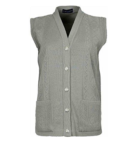 Cardigan maglia Beige da donna senza maniche a gilet 7rXqRrx