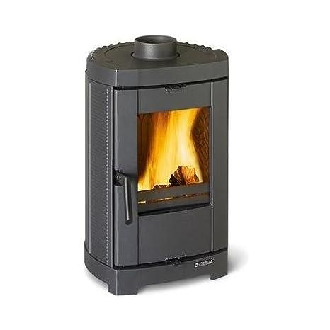 La Nordica Estufa a leña de hierro fundido esmaltada Potencia térmica nominal 5.7 kW 163 m³ calefactables Color Negro: Amazon.es: Bricolaje y herramientas