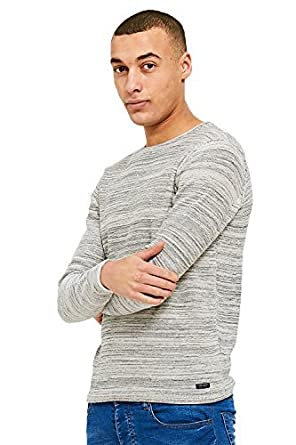 415bdd0220 Threadbare Mens Bagel Neck Soft Knitted Long Sleeved Top  Amazon.co ...
