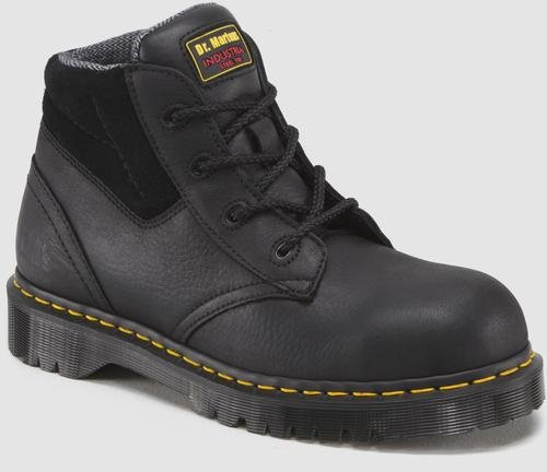 (Dr. Martens Men's 7B09 Steel Toe Boots,Black,12 UK / 13 US M)