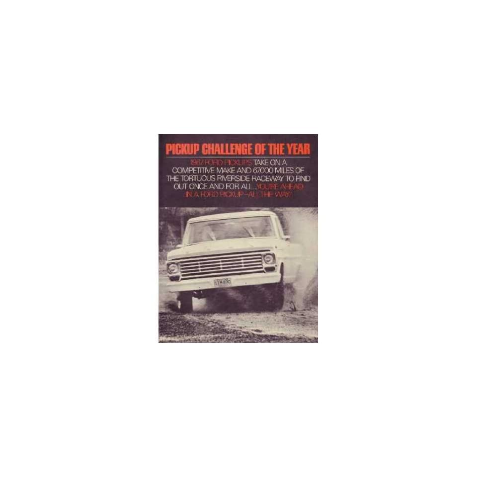 1967 Ford Pickup Challenge Sales Brochure Literature Book Piece Advertisement