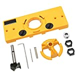 Flameer 1 Set 35mm Hinge Drilling Jig + 35mm Forstner Bit Woodworking DIY tools