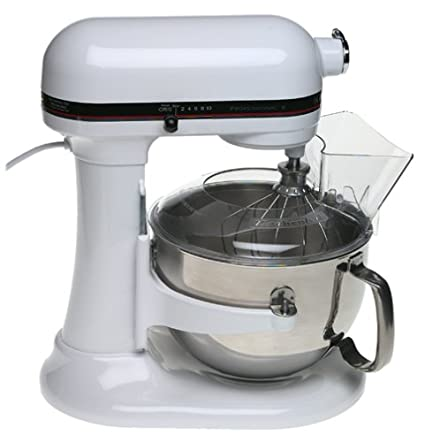 KitchenAid KP2671XWH Professional 6 Quart Stand Mixer, White