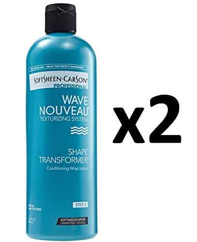 Wrap Conditioning Lotion - [ VALUE PACK OF 2] SOFTSHEEN CARSON WAVE NOUVEAU SHAPE TRANSFORMER WAVE LOTION 15.5 OZ Conditioning Wrap