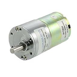 uxcell DC 24V 0.33A 30RPM 6mm Diameter Shaft Speed Reducing Gearbox Motor