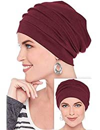 100% Cotton Slouchy Snood Caps for Women with Chemo Cancer Hair Loss