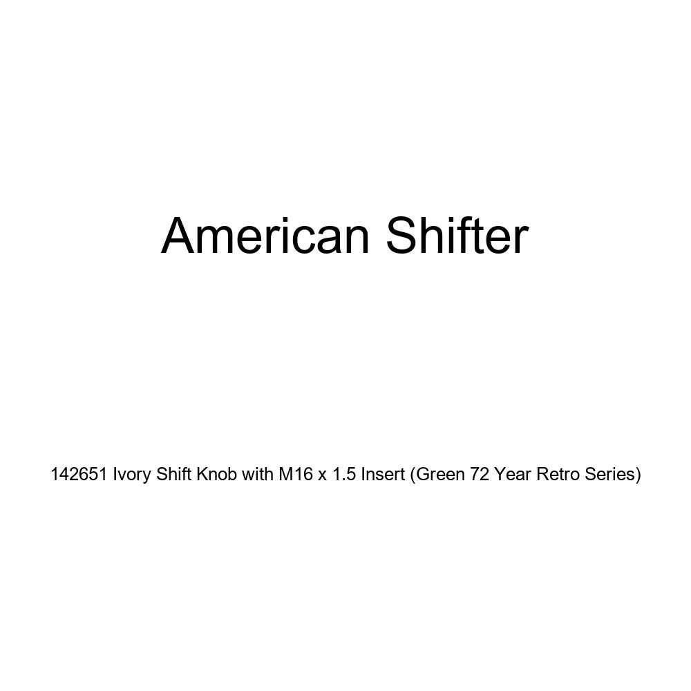 American Shifter 142651 Ivory Shift Knob with M16 x 1.5 Insert Green 72 Year Retro Series