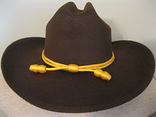 Western Cowboy Hat - Cattleman's with Cavalry Band - Brown (large/extra (The Walking Dead Hats)