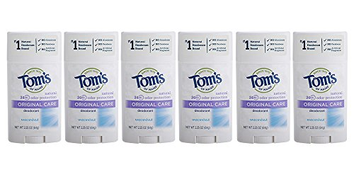 (Tom's of Maine Natural Original Care Deodorant Stick, Unscented, 2.25 Ounce, Pack of)