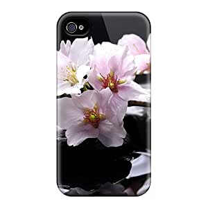 For Iphone 4/4s Premium Tpu Case Cover Beautiful Magnolias Protective Case