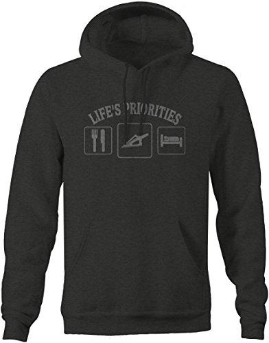Lifestyle Graphix Stealth - Life's priorities - Eat - Hunt - Sleep - Archery - Deer Sweatshirt - -
