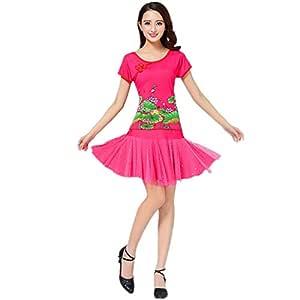HHY traje de falda de baile de figuras bailando vestido de manga ...