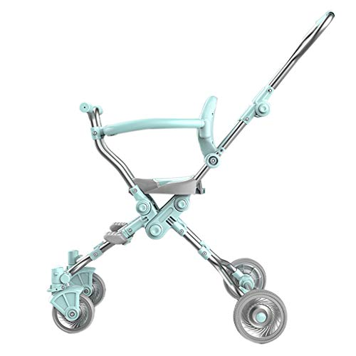 Aluminum Alloy Lightweight Baby Pushchair - Adjustable High View Pram Travel System Carriage Kids Stroller for 1-5 Years Old, Anodizing (94cm/ 37 inches)
