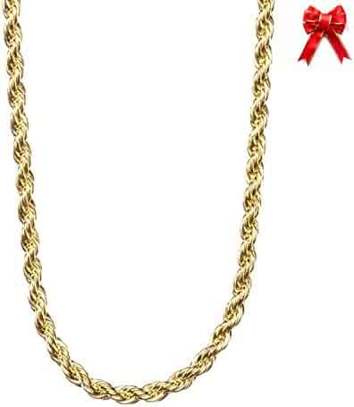 Lifetime Jewelry 2MM Rope Chain, 24K Gold with Inlaid Bronze Premium Fashion Jewelry Pendant Necklace Made to Wear Alone or with Pendants, Guaranteed for Life, 16 to 36 Inches