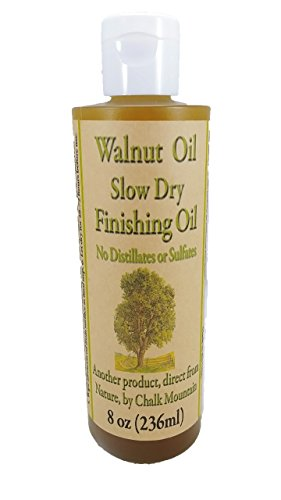 Chalk Mountain Brushes 8oz Walnut Oil Food Safe Finisher. Great for Wooden Utensils. Preserve and Beautify Unfinished Wood