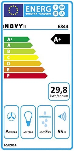 NOVY Pureline techo Campana 6844, color blanco, con 5 años de garantía: Amazon.es: Grandes electrodomésticos