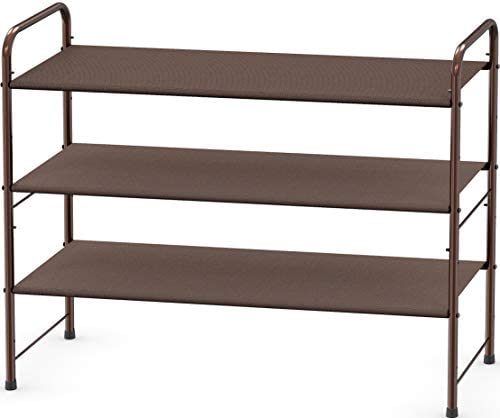 Simple Houseware 3-Tier Shoe Rack Storage Organizer 12-Pair / 20-Pair, Bronze