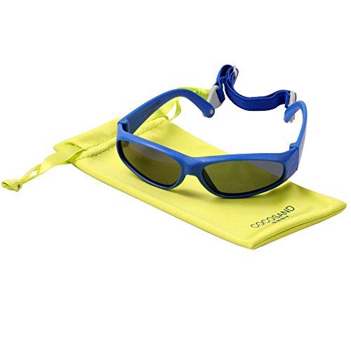 Toddler Baby Sunglasses with TPE FRAME & UV 400 Lens & Adjustable Straps Age: 0-2 Yrs. - Roshambo Sunglasses