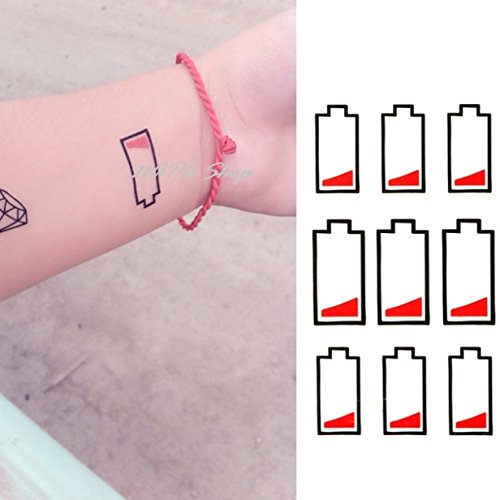 Fashion New Style Water Transfer Battery Temporary Tattoo Sticker Body Art Sexy Product Drop - Napa Shopping