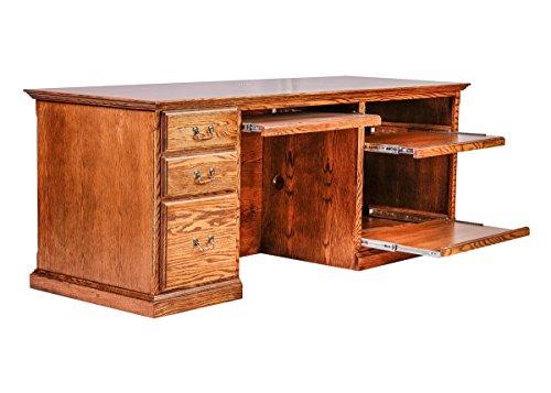 Forest Designs HFF-1047-T Computer Desk 78w Golden ()