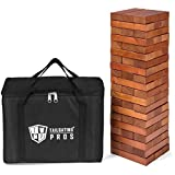 Tailgating Pros Giant Toppling Timbers w/ Carrying Case - Stained - Large - X-Large (Stained Tower Large)