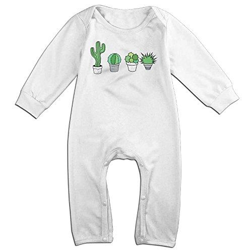 [Boy & Girl Infants Cactus Long Sleeve Climb Jumpsuit 18 Months White] (Cactus Costume Ebay)